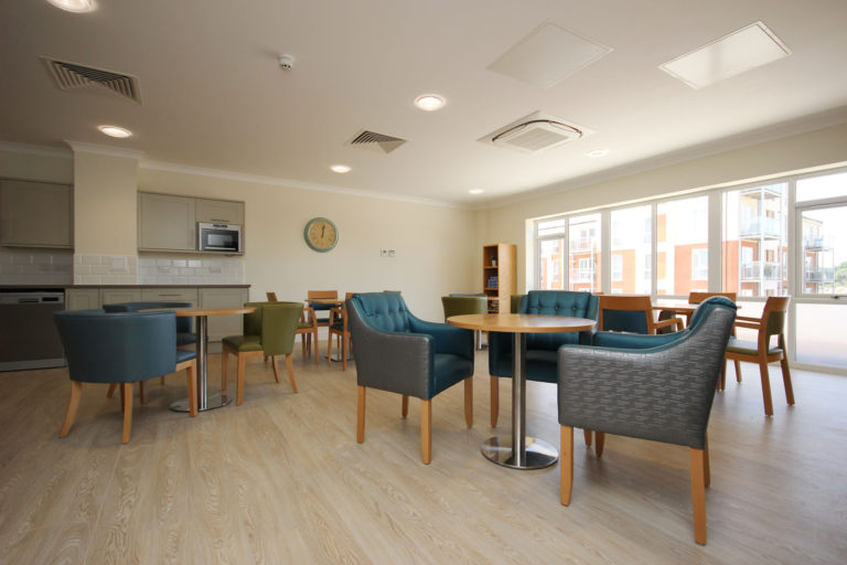 Olive Tree Court Communal Dining Area